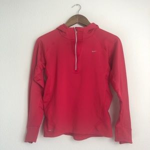 Nike Dri-Fit Quarter Zip Pullover with Hood